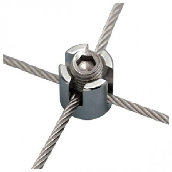 """Ultra-Tec Cross-Clamp With Cap for 1/8"""" Cable or Rod - TR-4A"""