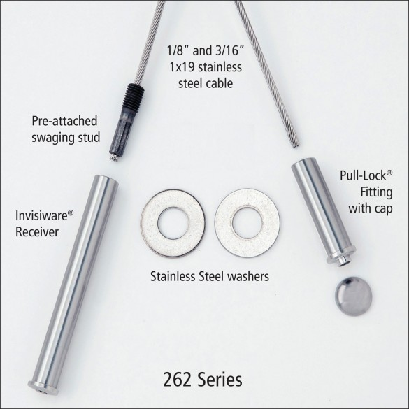 Ultra-Tec 262 Series Cable Railing Kit For Wood Posts