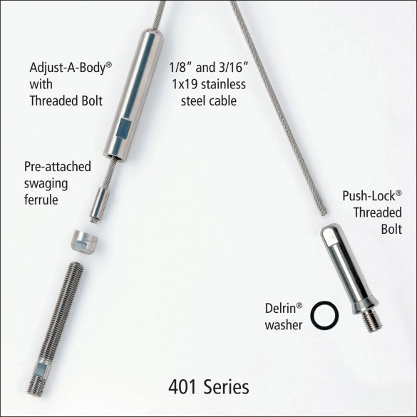 Ultra-Tec 401 Series Cable Railing Kit For Metal Posts