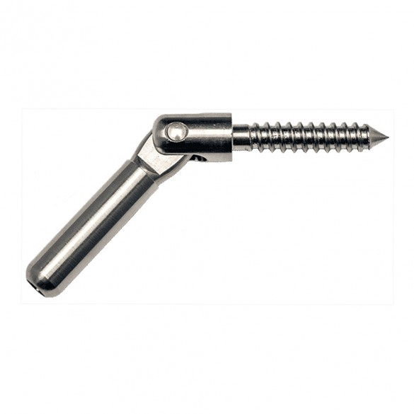 """Ultra-Tec Push-Lock With Lag Clevis For 3/16"""" Cable - PL-LAG-CL-TE6-1"""