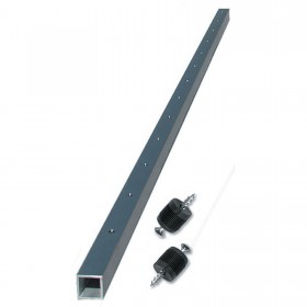 """Ultra-TEC 42"""" Anodized Aluminium Cable Brace With 13 Predrilled Holes, 2 Plugs & Screws (Level-Runs Only) - CB-42-AN-AL-13-P"""