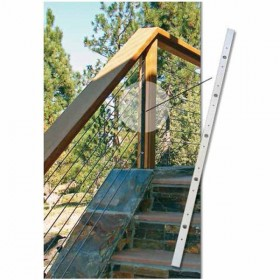 """Ultra-TEC 40.5"""" Stainless Steel Cable Brace With 12 Predrilled Holes For Wood Posts With Composite Sleeves (Pitched-Runs Only) - CS-40.5-SS-12"""